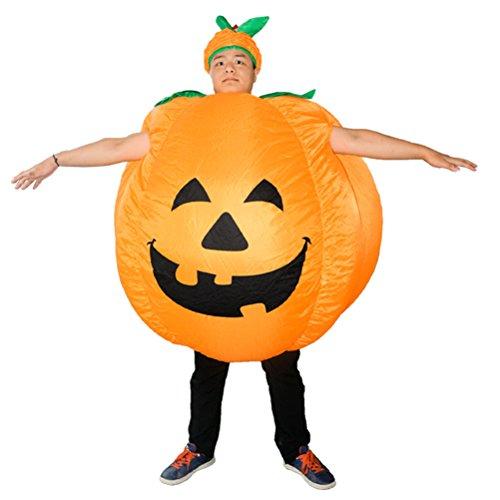 BESTOYARD Disfraz de Calabaza de Halloween para Adultos Disfraz de Calabaza Hinchable Disfraz de...