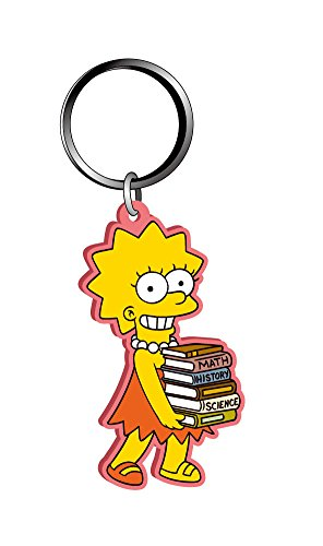 Fox Lisa Simpson - Llavero de PVC suave al tacto, multicolor, 1 pulgada