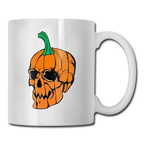 Taza de café con diseño de calabaza y terror, 11 onzas, taza de café, taza de té, novedad regalo...