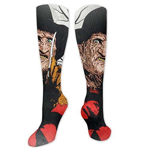 hotspu Freddy Krueger One Size White Compression Socks For Men & Women Beautiful Socks