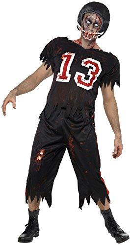 Smiffy's - Disfraz de Jugador de fútbol Americano Zombie para Hombre, Ideal para Halloween