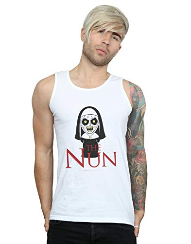 The Nun Hombre Chibi Scare Camiseta Sin Mangas Blanco XX-Large