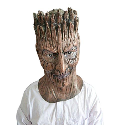 Monbedos Máscara humana de látex con forma de árbol de terror para Halloween, cosplay, fiesta de...