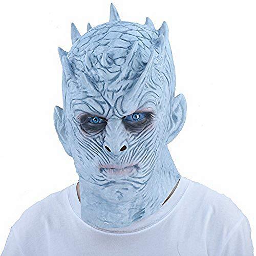 Thematys - Máscara de noche de rey de noche para senderismo, color blanco, perfecta para carnaval y...