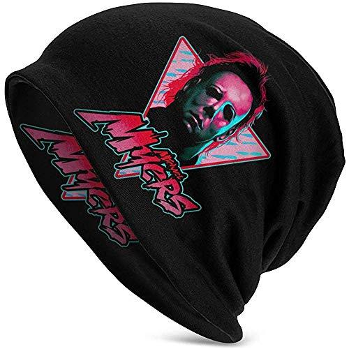 Giles John Michael Myers Knit Hat Novelty Beanie Gorra Negra para Hombre Sombrero Accesorio