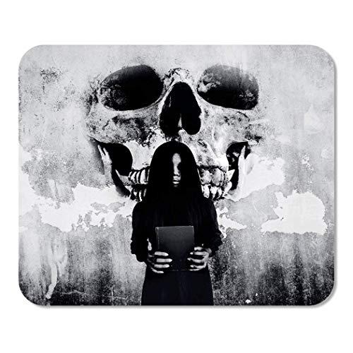 Mousepad Bloc de Notas Oficina Maldición GH-ost Mujer Maldito Libro Terror Espeluznante Bruja...