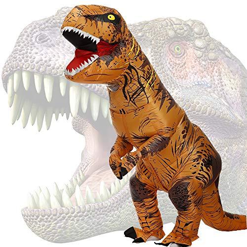 JASHKE Disfraz Dinosaurio Inflable Adulto Traje Dinosaurio Disfraz Trex Disfraces Hombre Divertidas...