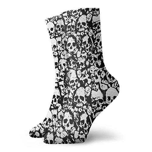 kslae Skull Terror Mens Impreso Novedad divertida Casual Crew Dress Calcetines para mujer/Unisex...