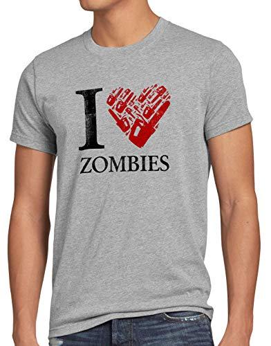 style3 Love Zombies Camiseta para Hombre T-Shirt Walking Zombie Dixon The Halloween Dead, Talla:S,...