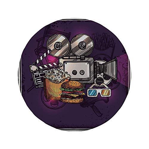 Alfombrilla de ratón Redonda de Goma Antideslizante decoración Moderna Dibujos Animados como Cine...