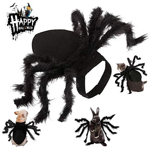Disfraz de araña para mascotas, para Halloween, apto para gatos y perros pequeños, ajustable,...