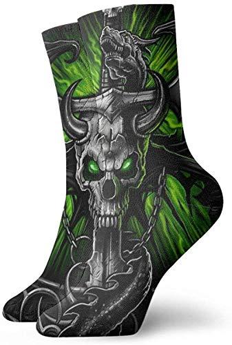 Calcetines unisex para hombre Cráneos de terror góticos Novedades de moda Calcetines deportivos...