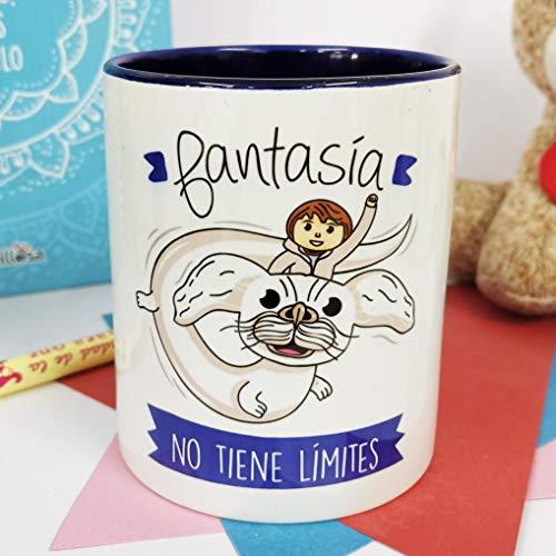 La Mente es Maravillosa - Taza con Frase y dibujo. Regalo original y gracioso (Fantasía no tiene...