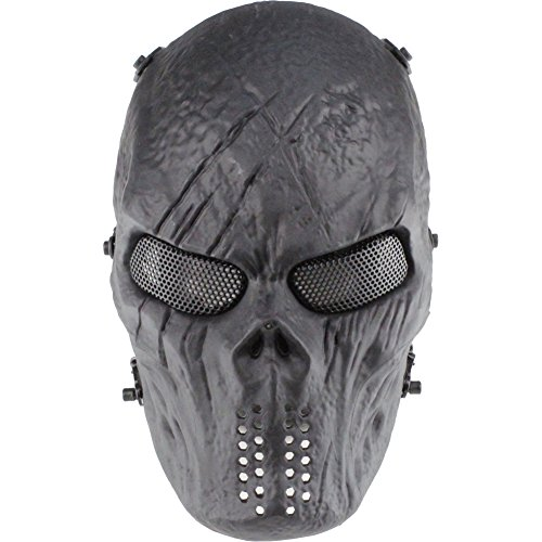 GES Cara del cráneo Máscara de Airsoft Paintball al Aire Libre protección Militar Completa del...