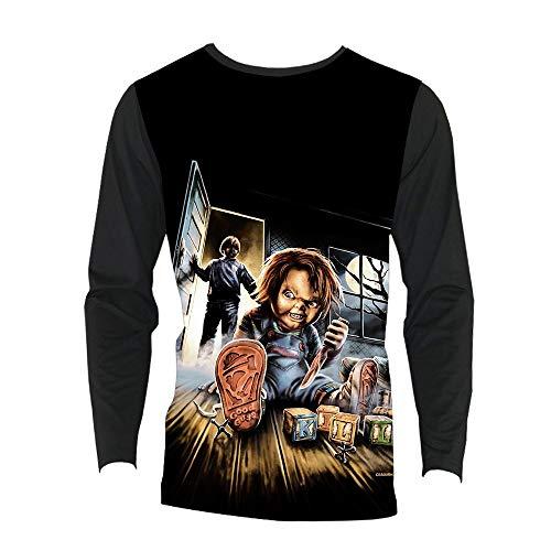 Good Guys Chucky Camiseta Camiseta de Manga Larga clásica Elegancia de vanguardia Camiseta Tops de...
