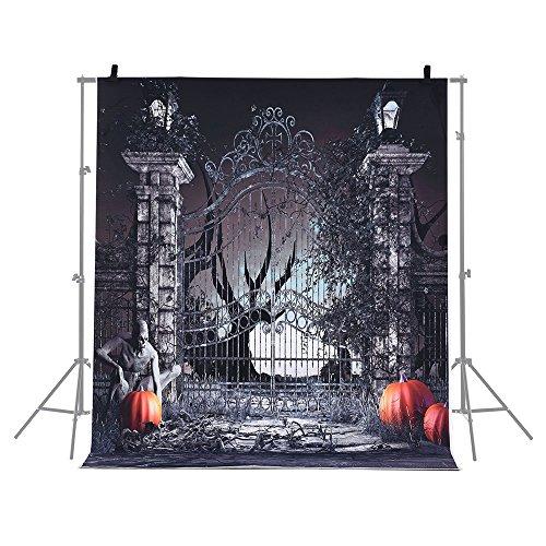 Andoer 6.9 * 5ft/2.1 * 1.5m Telón de Fondo de Halloween Fotografía Decoración de Fondo Patrón de...