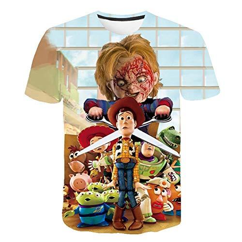 Meibida Camiseta de Hombre Personalizada Camiseta con Estampado Tridimensional de bebé Chucky del...