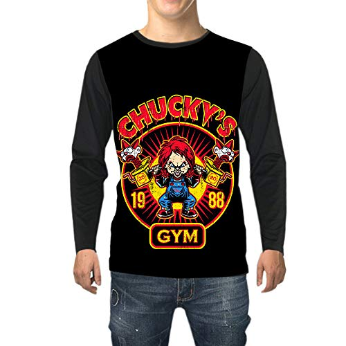 Good Guys Chucky Camiseta For Hombre Cuello Redondo Impreso Animado Langarmshirt Adolescentes...