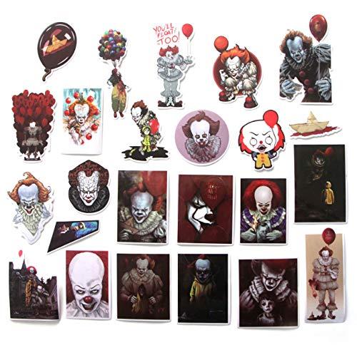 24 Piezas Stephen King'S IT Stickers para Laptop Skateboard Decoración Styling Vinyl Decals Cool...