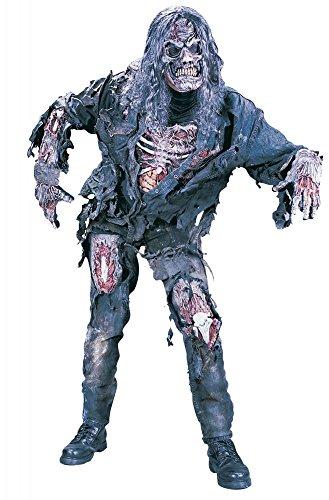 Disfraz de zombi deluxe 3D de Shoperama, para hombre y adolescente, para Halloween, terror