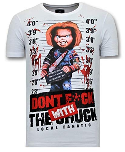 Local Fanatic Camiseta De Hombre - con Estampado Chucky -