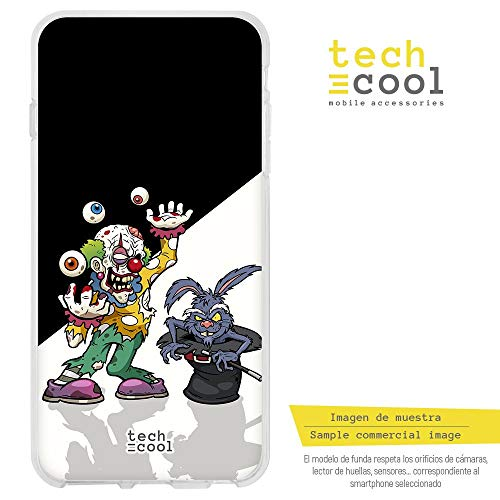 Funnytech® Funda Silicona para BQ Aquaris V [Gel Silicona Flexible, Diseño Exclusivo] Payaso...