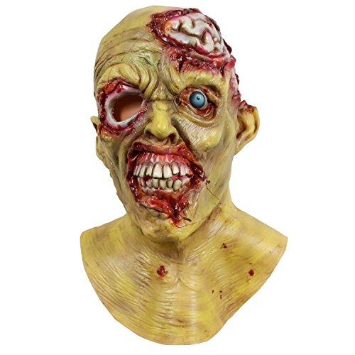 molezu Horror Espeluznante Máscara Cerebral Máscaras para la Cabeza Cara temible para la Fiesta de...