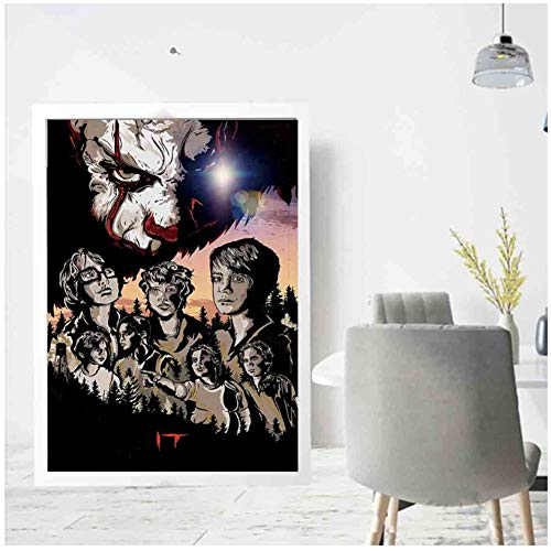 Pennywise Stephen King film Art Poster Picture Print Canvas Painting room decoración de la pared...