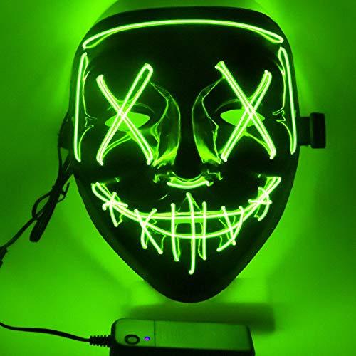 FZCRRDU KOCCAE LED Máscaras Carnaval,Halloween Mascaras,Craneo Esqueleto Mascaras, para...
