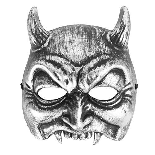 SUPVOX máscara de Diablo de Halloween máscara de Media Cara de Terror máscara de Fantasma...