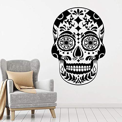wopiaol Tatuajes de Pared Terror Style Skull Symbol México Patrón Vinyl Window Stickers Bar Man...