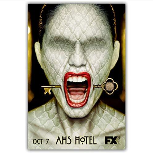 yhnjikl American Horror Story TV Movie Poster Wall Art Decoración de Pared Impresiones de Seda Art...