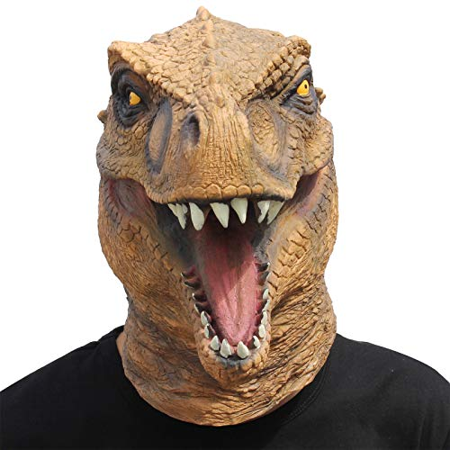 CreepyParty Fiesta de Disfraces de Halloween Máscara de Látex Cabeza de Animal Dinosaurio