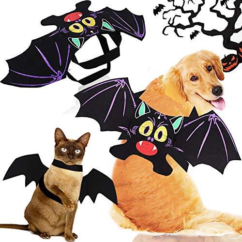 CoKu Disfraces de Halloween para Mascotas, Disfraz de Perro de Murciélago/Alas de Murciélago de...