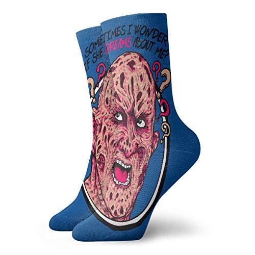 Bluetop Freddy Krueger Casual Funny Non Slip Sports - Calcetines para hombre y mujer (11,8 pulgadas)