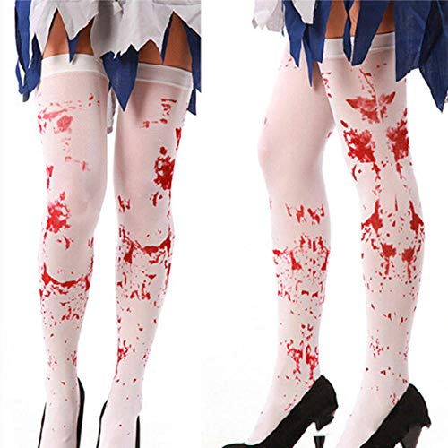 ODMKGE Calcetines Erwachsene Frauen Phantasie Kleid Blut Blutige Druck Socken Strümpfe Halloween...
