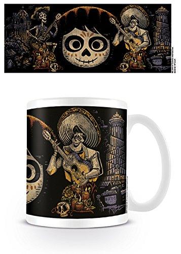CoCo–día de los Muertos Taza de café, cerámica, Multicolor, 7,9x 11x 9,3cm