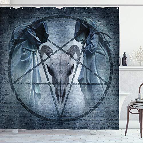 ABAKUHAUS Terror La casa Cortina de Baño, Diablo sueño Scary, Material Resistente al Agua Durable...