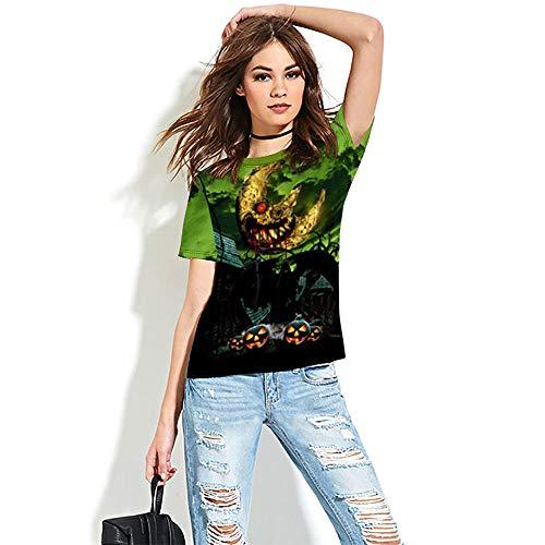 Camisetas 3D, Camisetas de Entretenimiento Festivo, Manga Corta de la Calle de Terror Impreso para...