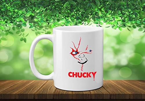 Taza de café de Halloween Chucky con diseño de otoño de la película de terror