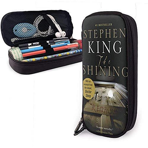 Stephen King Book-The Shining Leather Pencil Case Estuche para lápices, organizador de...