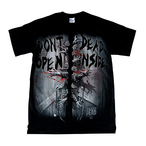 The Walking Dead – Don 't open dead inside – Camiseta – Negro Negro negro small