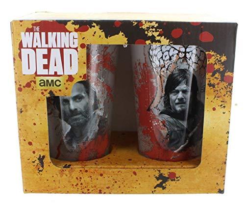 AMC The Walking Dead - Juego de vasos de pinta de 2 piezas (500 ml)