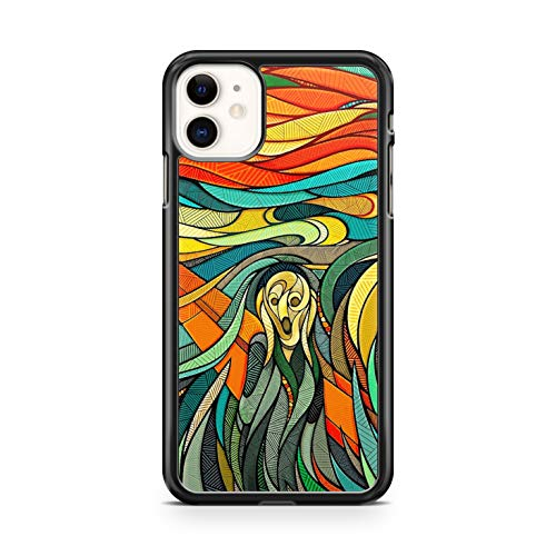 Générique - Carcasa rígida para iPhone 11, diseño de Edvard Munch The Scream, color negro