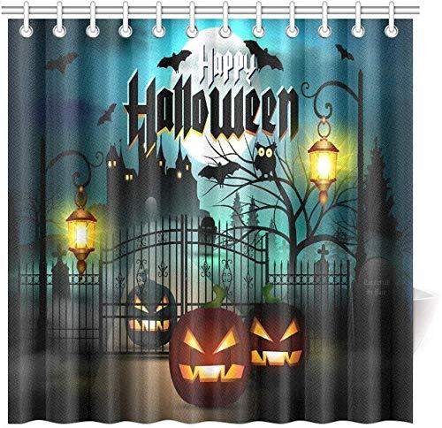 remmber me Decoraciones de Miedo Cortina de Ducha Happy Halloween Spooky Tallado Decoración de...