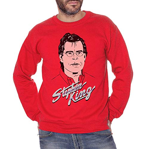 Sweatshirt Crewneck Stephen King - Famoso Choose ur Color - Hombre-M-Rojo