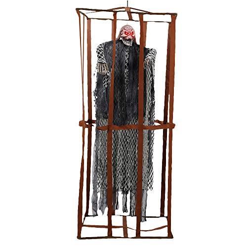 Comficent Esqueleto Preso de Halloween de Valla prisión Adornos Prisioneros Colgante Fantasmas...