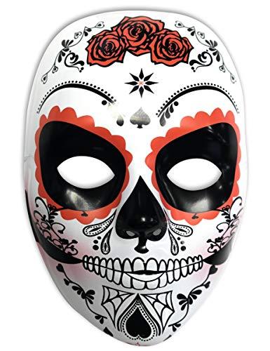 Rubies- Mascara calavera Katrina con rosas Día de los Muertos, Talla única (Rubie's Spain S3186)