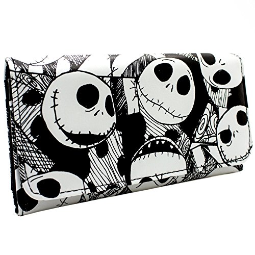 Cartera de Nightmare Before Christmas Jack Cabezas Negro