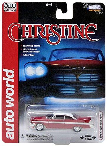 AWSS6401 Auto World Plymouth Fury - Cristina (1/64, Rojo/Blanco)